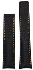 24mm Panatime D Brown Leather Watch Strap for Breitling Deploy 24x20