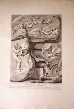 ITALIA/ ITALY.Roma.Rome,familia llorando la muerte de la hija .Barbault,1761