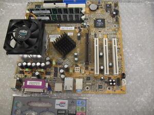 FIC 53-80584-08 AU31 Socket A AMD Motherboard 2.2GHz 512MB RAM AV31