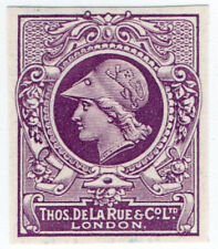 (I.B) Cinderella : De La Rue & Co - Minerva Head Essay (solid background)