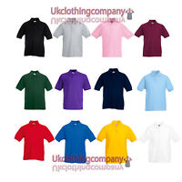 Fruit Of The Loom Children's 65/35 Piqué Polo  - Unisex Kids tops - sizes 3-13