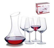 Red Wine Decanter Carafe Set Glass Transparent Clear 1.8 L Litre 4 Glasses UK