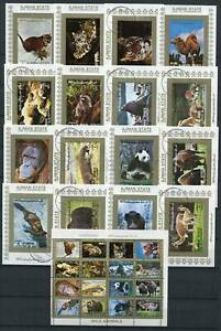 265171 AJMAN 1972 year used stamps set+16S/S ANIMALS