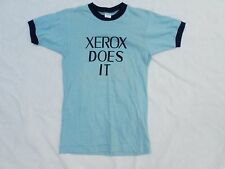 XEROX CHAMPION vintage blue ringer two-sided made USA mint t-shirt SMALL