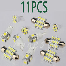 11PCS White LED Lights Interior Package for T10 & 31mm Map Dome License Plate