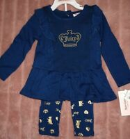 NWT Juicy Couture Infant Toddler Girls 2 PC Set Size 18 months  MSRP $60