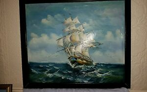 Galleon / ship maritime   oil painting
