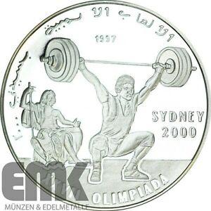 Republik Sahara 500 Pesetas 1997 - Olympische Spiele - Sydney Gewichtheben Si PP