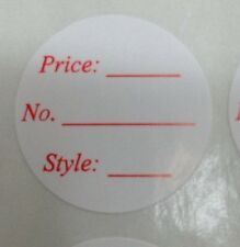 500 Round Retail Store/Flea Market Multi Purpose Adhesive Sticker Labels Tags