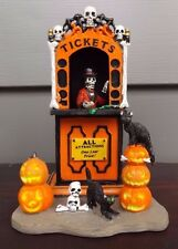 Spooky Town by Lemax Ticket Taker Halloween Village Carnival Ride RETIRED