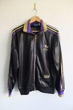 Rare Trefoil Adidas Chile '62 tracksuit Jacket | Black purple gold M Wet look