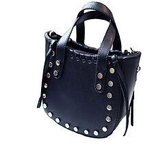 Women Rivet Faux Leather Handbags Ladies Shoulder Messenger Tote Bags Purse Sale