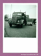 PHOTO DE POLICE CONSTAT D'ACCIDENT CRASH, CAMION CONTRE MOTO, 1955 -J56