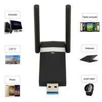1200 Mbps WiFi Adapter 2.4/5.8GHz USB 3.0 Dual Band WLAN Empfänger Stick Dongle