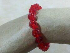 Pretty Bracelet Red Acrylic Stretch Women New 8mm Arm Candy Fashion Jewelry