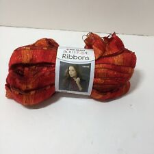 1 Skein Ribbons Yarn Red Heart Boutique Fire 3.5 oz Super Bulky