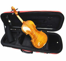 Old/Used Good Sound 4/4 Flamed Violin+ New Octagon Stick Bow+New Bow+EVA Case