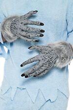Smiffys hombre lobo gris manos PVC con piel