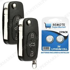 Replacement for Volkswagen VW 98-01 Beetle 01-02 Cabrio Remote Car Key Fob Pair