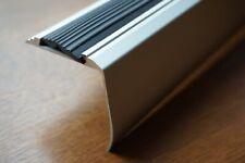 90cm aluminium trapprofielen, antislip trapneusprofiel 48x50 mm zilver