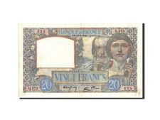 Billets, France, 20 Francs, 20 F 1939-1942 ''Science et Travail'', 1940 #210937