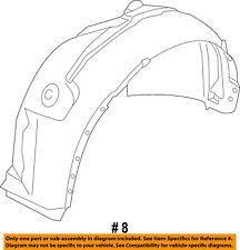 FORD OEM 13-14 Escape-Front Fender Liner Splash Shield Right CJ5Z16102A
