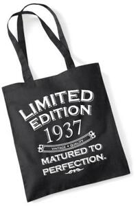 84th Birthday Gift Tote Shopping Bag Limited Edition 1937 Matured To Perfection