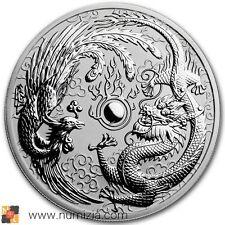 AUSTRALIA 1 Dollar 2017 Dragón y Phoenix 1 Onza de plata (S/C)