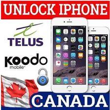 SEMI PREMIUM FACTORY UNLOCK SERVICE Telus / Koodo Canada iPhone 5/ 6 / 7 / 8 / X