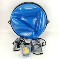 """Exercise Fitness Yoga Balance Trainer Ball 23"""" W/ 3 Resistance Bands And 1 Pump"""