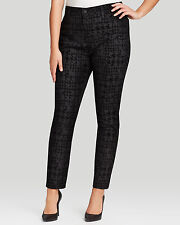 NWT $140 NYDJ Not Your Daughters Jeans Super Skinny Houndstooth Flocking sz 14