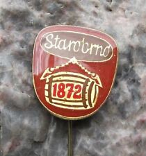 Starobrno 1872 Old Brno Beer Keg Barrel Czechoslovakia Brewery Lager Pin Badge