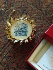"Vintage Hummel Gold Christmas Ornament Collection ""Allelujiah"" 1988 Angel Guitar"