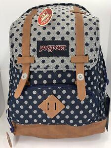 Jansport Baughman navy twiggy dot backpack # JS00T44A0U3