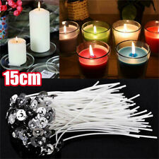 New Candle Wicks Wick Pre Waxed Tabs Low Smoke Sustainers Cotton Core Holder