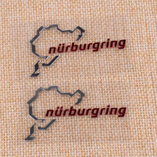 Nurburgring Map Window Glass Car Sticker Laptop Truck Silver Bike Decal Sticker