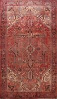 Antique Hand-Knotted Traditional Area Rug Geometric Oriental Wool Carpet 10x13