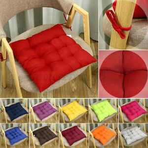 TIE ON 4Pcs DINING CHAIR SEAT PADS CUSHIONS PATIO GARDEN CONSERVATORY KITCHEN