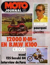MOTO JOURNAL  627 Essai Test BMW K100 K 100 12000 km SUZUKI 125 RM Kenny ROBERTS