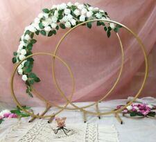 30cm/50cm Gold Metal Flower Stand Hoop Hoops Centrepiece WeddingGeneral UK STOCK