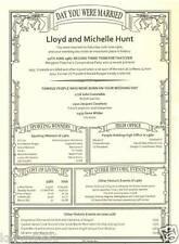 PERSONALISED 1st Paper Wedding Anniversary Present Gift