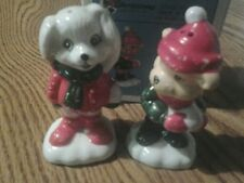 Christmas Salt And Pepper W/X'Mas Critter House Of Lloyd 1990
