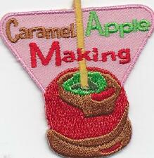 Girl Boy Cub CARAMEL APPLE MAKING Fun Patches Badges Crests SCOUTS GUIDE dipping