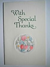 """Carlton Cards ~ EMBOSSED FRENCH-FOLD """"WITH SPECIAL THANKS"""" GREETING CARD"""