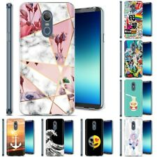 Thin Gel Design Protective Phone Case for LG Stylo 4,4 Plus + Q710,Marble Print