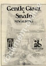 Gentle Giant Power & The Glory Snafu Situation Normal MM4 LP/Tour Advert 1974