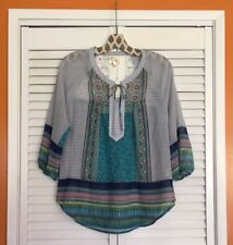 Small New Anthropologie Fig & Flower Tunic Peasant Top Blouse Floral XS