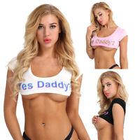 Fashion Womens Short Sleeve Tank Top Bustier Bra Vest Crop Top Blouse T Shirts