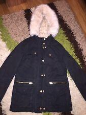 Ladies Size 6 Topshop Fur Lined Coat Parka Jacket
