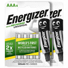 Energizer AAA batteries Rechargeable Universal 500mAh Accu NiMH HR03 Retail Pack
